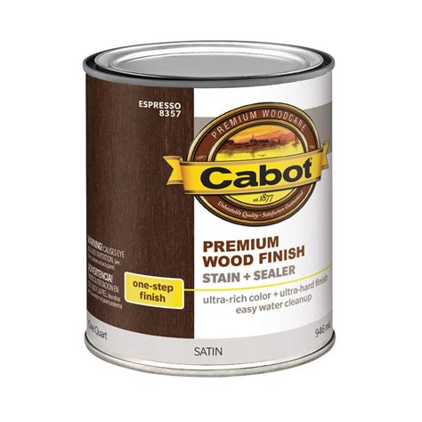 shop cabot espresso base 32 fl oz interior stain at lowes