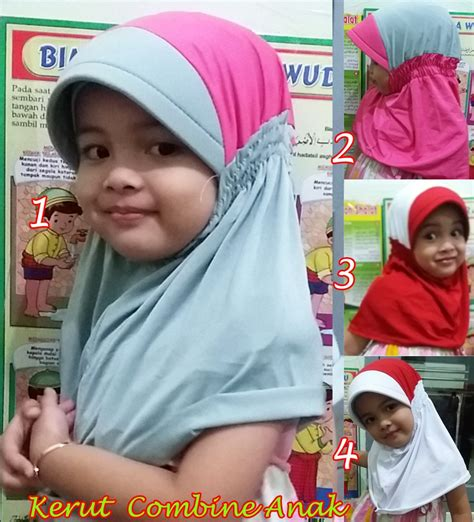 Jilbab Tangan Anak jilbab anak kerut combine sentral grosir jilbab