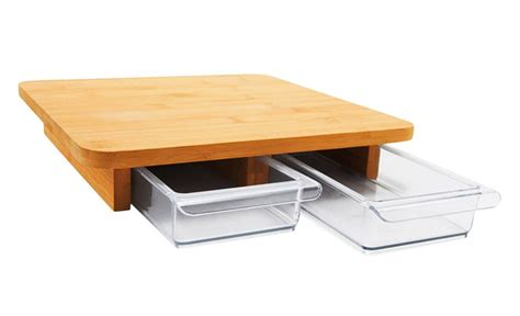 Cutting Board With Drawer by Cubo Cutting Board With Two Sliding Drawers To Systematize