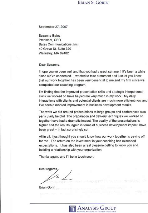 thank you letter business development thank you letter business development