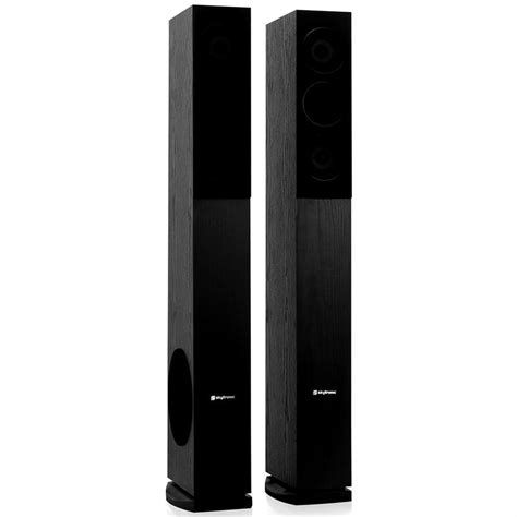 pair skytronic shft52b tower speakers floor standing hifi