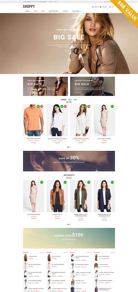 magento bootstrap themes free ves shoppy best free magento themes download 1 9