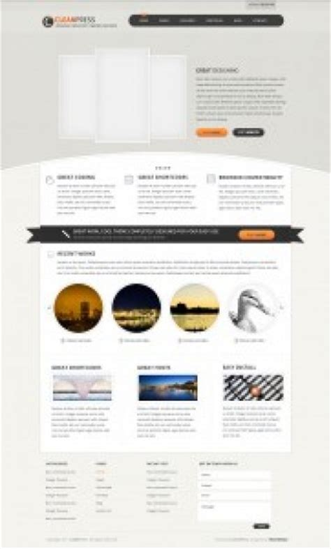 sauber wordpress template psd download der kostenlosen psd