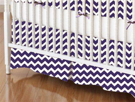Purple Chevron Crib Bedding Crib Skirt Purple Chevron Zigzag Crib Skirts Sheets Sheetworld