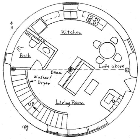 Floor Plans For Round Homes | earthbag house plans tiny house design