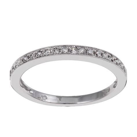 Silver Band Ring With Diamonds by Unending Sterling Silver 1 10ct Tdw Ring I J