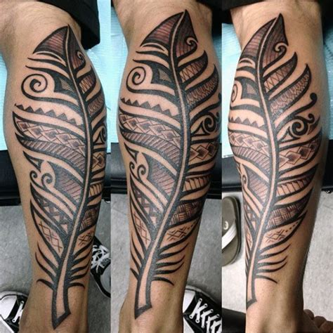 male leg tattoo designs 70 feather designs for masculine ink ideas