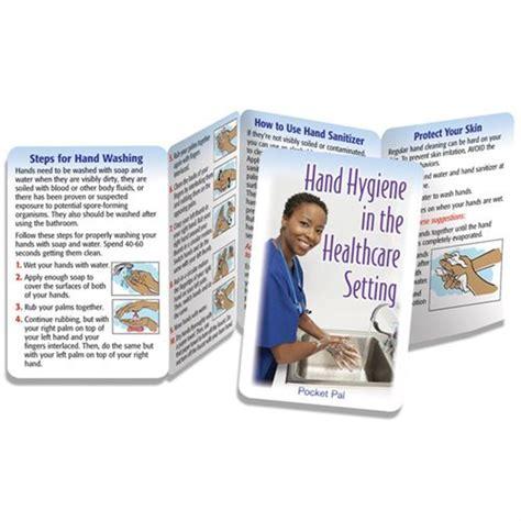 hand hygiene   healthcare setting pocket pal positive promotions