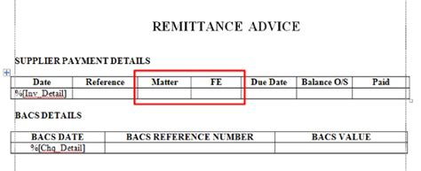 remittance template to amend the template click edit
