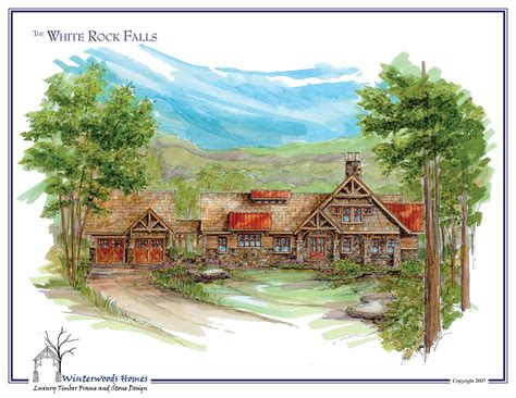 The Cabin White Rock by The White Rock Falls Large Log Cabin Plan Winterwoods Homes