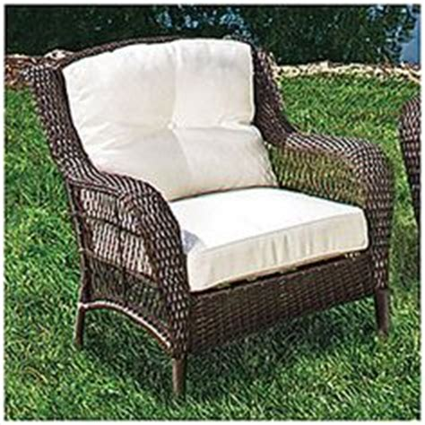 Wilson And Fisher Log Chair by Wilson Fisher Resin Wicker 3 Cushioned