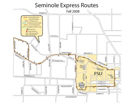 fsu cus map florida state seminole express map florida state mappery