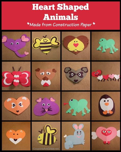 How To Make Animals Out Of Construction Paper - shaped animals construction paper crafts