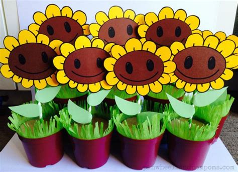 Plants Vs Zombies Decorations by Tutorial On How To Make Potted Sunflower Decorations For A