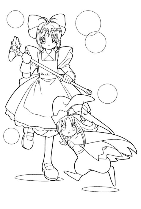 cardcaptor coloring pages