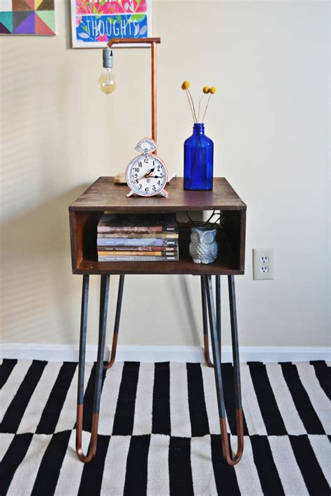 hairpin leg side table diy copper dipped hairpin leg side table a joyful riot