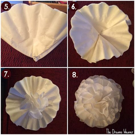 Coffee Filter Paper Crafts - the dreams weaver coffee filter flowers