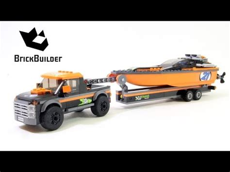 Lego City 60085 4x4 With Powerboat Set Power Motorcar Truck Boat lego city 60085 4x4 with powerboat lego speed build