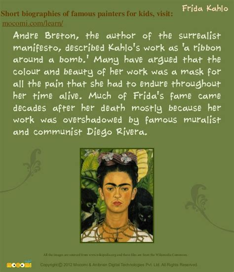 frida kahlo brief biography farida kahlo famous painters for kids mocomi com