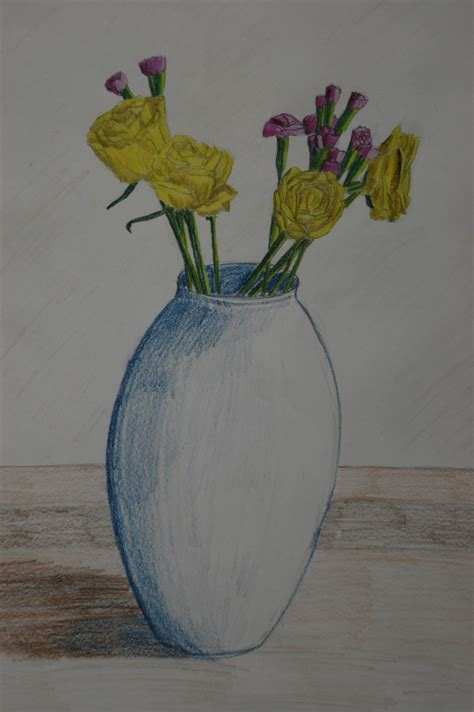 Pencil Drawing Flower Vase by Drawing Plants And Flowers Project Part Two Anitabowmanoca