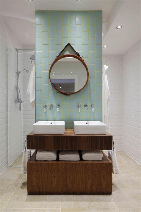 industrial bathroom mirror industrial loft apartment by olivier burns