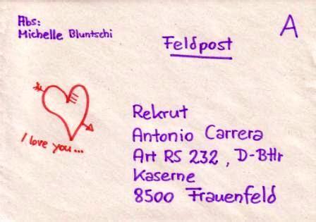 Schweiz Brief A Post portofreie milit 228 rsendungen f 252 r angeh 246 rige der armee im