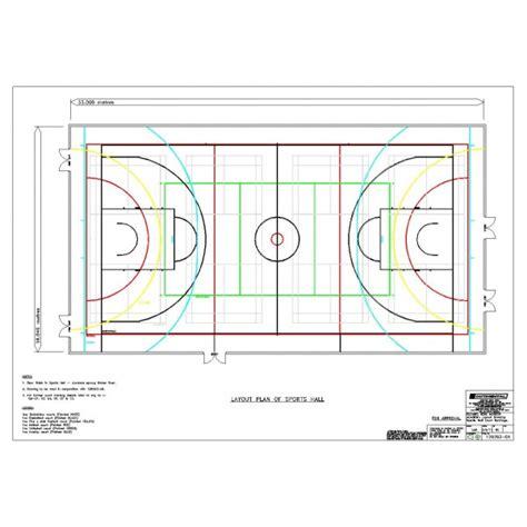 Backyard Basketball Court Price Line Marking Drawings 004 Flooring Continental Sports
