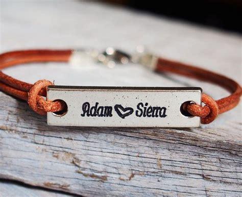 couples name bracelet personalized bracelet