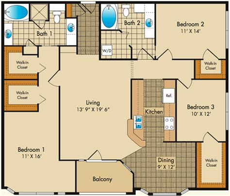 Large Floor Plans by Dobson Mills Philadelphia Luxury Apartments Floor Plans