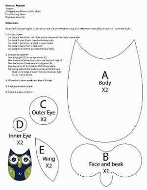 Small Owl Template owl template