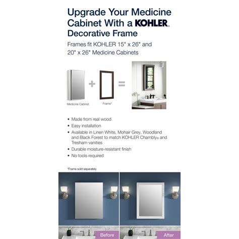 20 x 26 recessed medicine cabinet kohler 20 in w x 26 in h recessed medicine cabinet k cb
