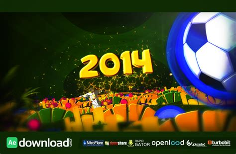 after effects templates free soccer brazil soccer 2014 after effects project videohive