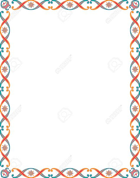 clip borders colors clipart border pencil and in color colors clipart