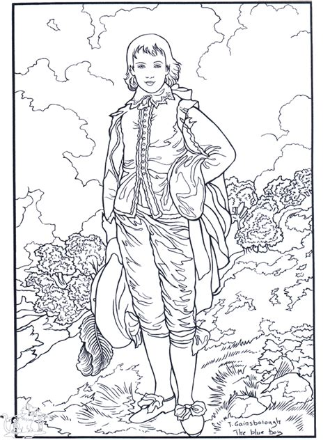 Painter Gainsborough Art Coloring Pages Artist Coloring Pages