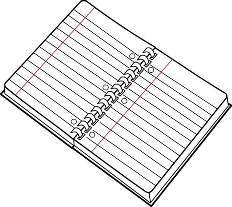 Drawing Notebook by Cahier Spirale Ouvert Open Spiral Notebook Free Vector