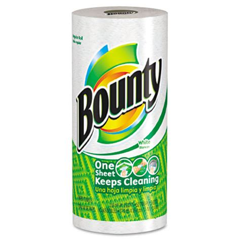Who Makes Bounty Paper Towels - bounty 174 perforated paper towels 9 x 10 2 5 white 48