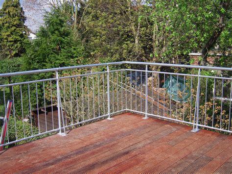 handlauf terrasse stahlgel 228 nder f 252 r terrasse angebaut fr 214 bel metallbau