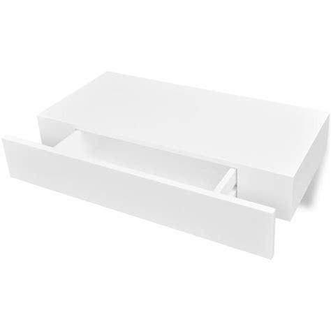 etagere murale tiroir acheter etag 232 re murale en mdf blanc avec 1 tiroir pour dvd