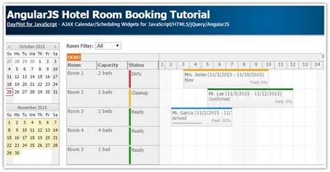 tutorial java angularjs angularjs hotel room booking tutorial daypilot code