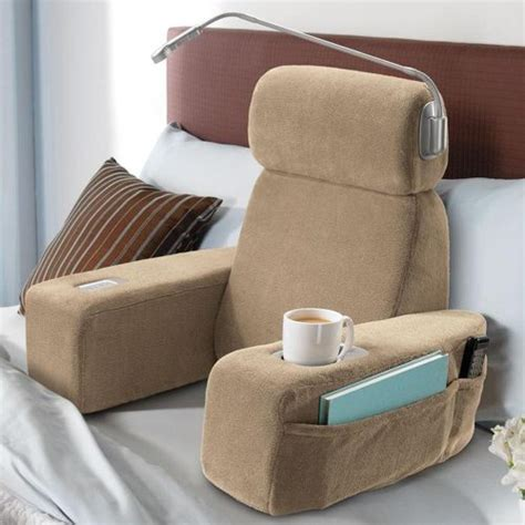 bed chair pillows watch tv or read in the arms of comfort the gadgeteer
