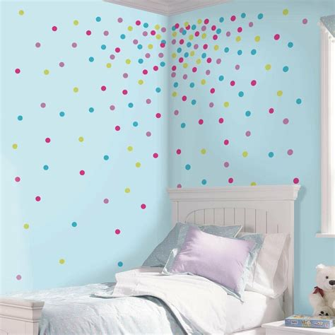 wall decals room confetti glitter polka dots 180 wall decals blue pink room decor stickers 2712 ebay