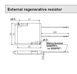 what is regenerative resistor dv0p2890 external regenerative resistor for use with minas bl gv series brushless lifier