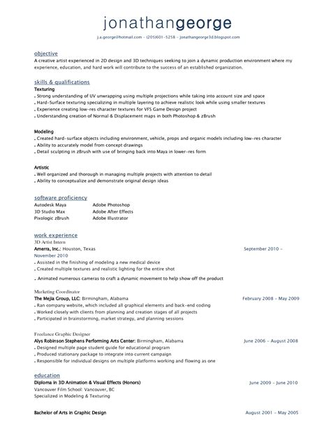 Artist Resume Skills by Artist Resumes Resume Ideas