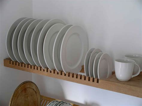 Unfitted Kitchen Furniture by Kitchen Plate Rack Is An Extension Of The Solid Beech