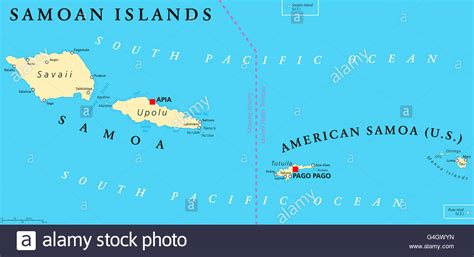 samoa map islands political map with samoa known as western