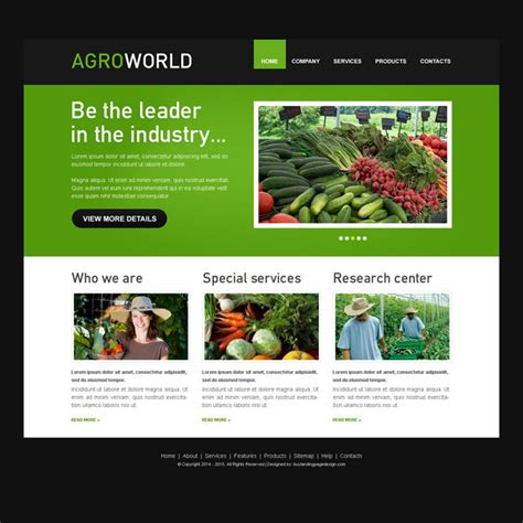 Agroworld Clean Website Template Psd For Agriculture Company Purchase Website Templates