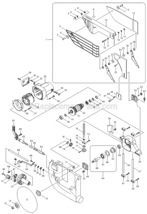 makita 2704 parts list and diagram ereplacementparts