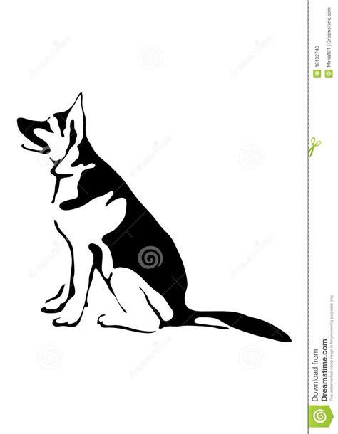 Assento Do Cão De Pastor Alemão Ilustração do Vetor