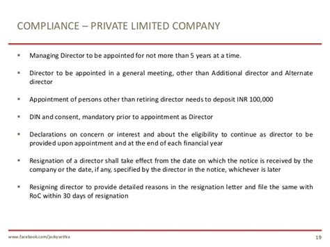 Resignation Letter Format As Per Companies Act 2013 100 Company Resignation Letter Company Director 36
