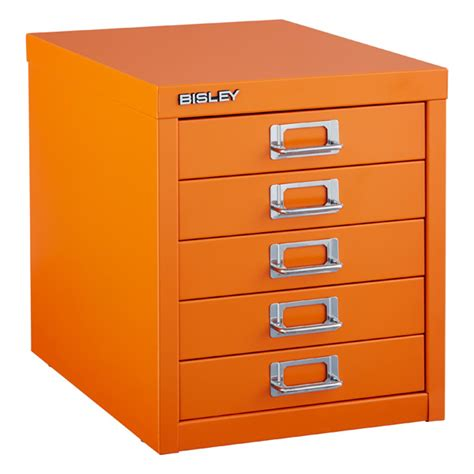 orange bisley 5 drawer cabinet the container store